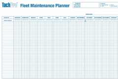 Vehicle Fleet Maintenance Wall Planner